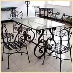 Wrought Iron Dining Table Set In Behala