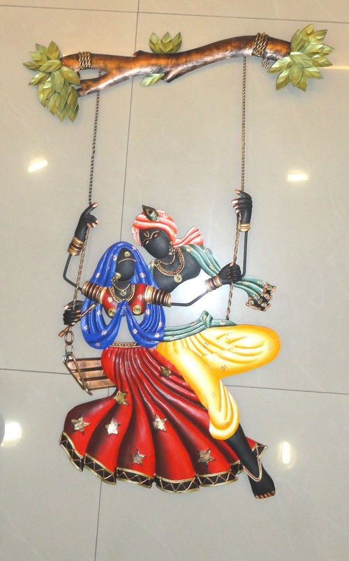Wall Hangings Metal Wall Art Radha Krishna Metal Wall Hanging In Hyderabad Telangana  Satgurus
