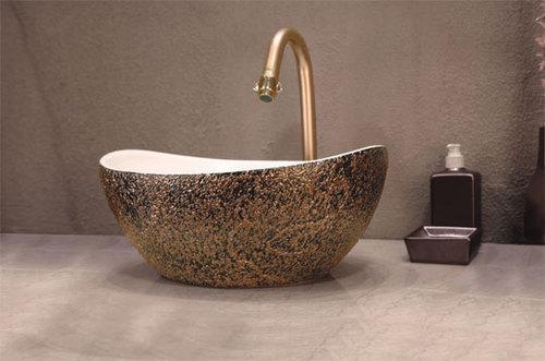 Designer table top basins in gota ahmedabad sugrit for Latest wash basin designs india