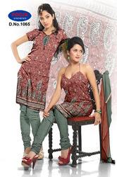 French Jacquard Print Salwar Suit