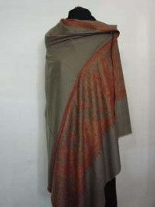Embroided Border Shawl