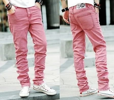 coloured mens jeans - Jean Yu Beauty