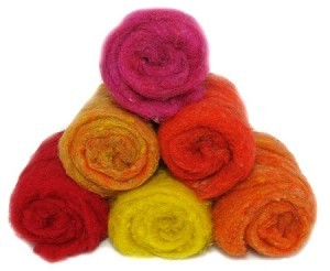 Australia Merino Deyed Wool Tops For Needle Felting And Wet Felting