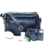 Leather Zippered Luggage Bag