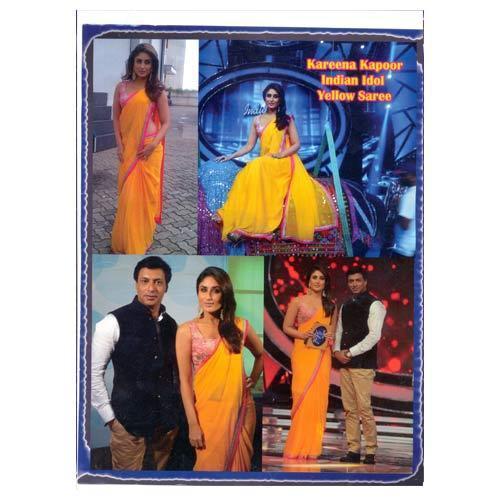 Designer Yellow Saree