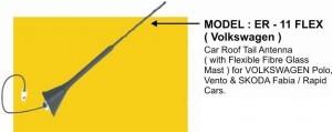 Volkswagen And Skoda Cars Antenna (ER-11 Flex)
