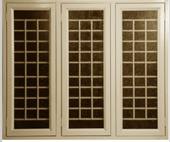 French three shutter grill window in perumbavoor for Window grill design kerala