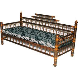 Wooden divan sofa in university road rajkot exporter for Divan sofa india