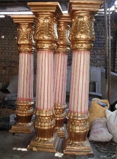 Decorative Fiberglass Pillars Fabrication Services In