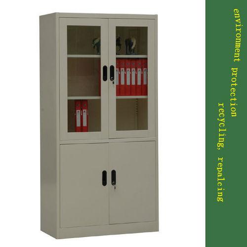Steel Gl Door Office Bookcase In Dalukou Industry Zone