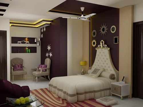 Guest bedroom interior design services in 50 sector noida - Bedroom interior indian style ...