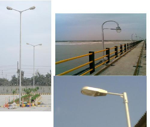 FRP Lighting Poles in  New Area