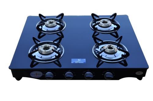 4 Burner Black Gas Stove