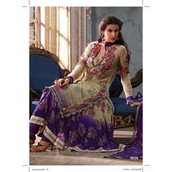 Ladies Partywear Silk Designer Suit in Chandni Chowk, Delhi, Delhi