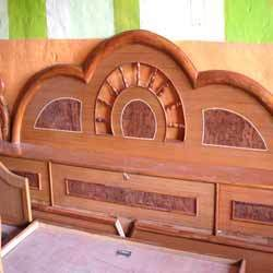 Wooden double bed in mhow naka indore manufacturer for Double bed with box design