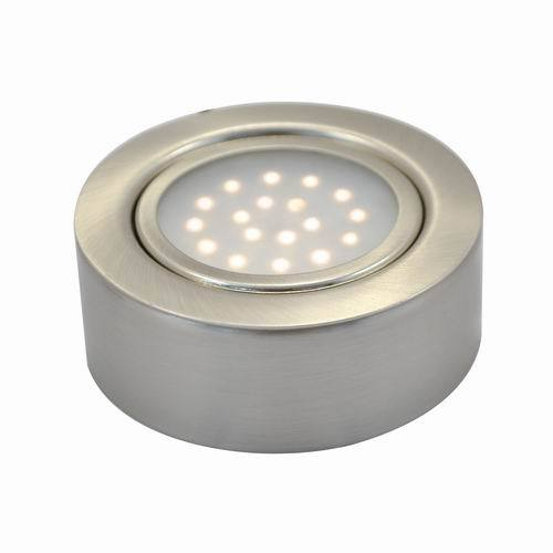 Led Under Cabinet Surface Mounted Light: 1.25W LED Recessed Round Swivel Under Cabinet Puck Light