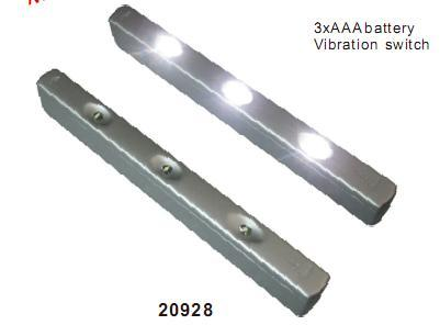 Linear LED Drawer Light With Vibration Switch by AAA Battery