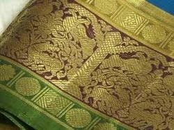Zari Border Chiffon Fabric