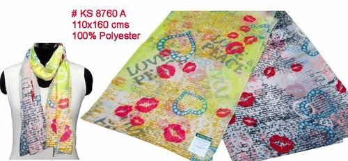 Lipstick Print Scarves