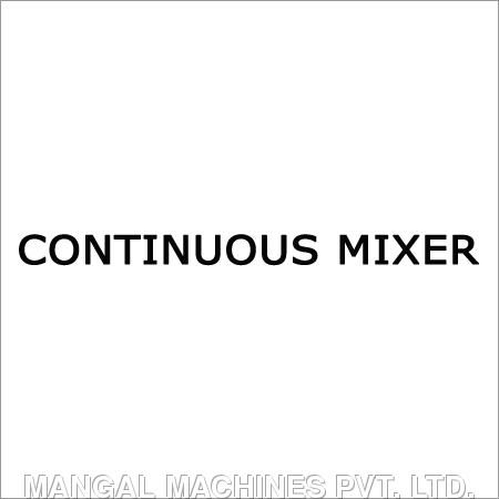 Continuous Mixer in  Old Factory Area