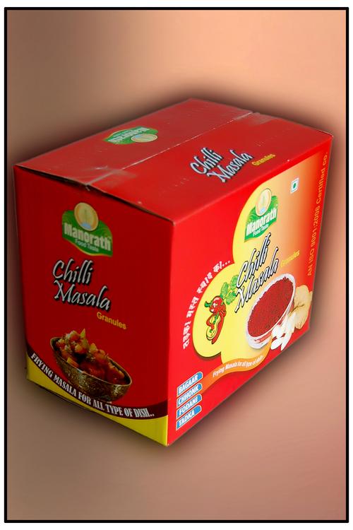 Small Box With 12 Jars Of Chilli Masala