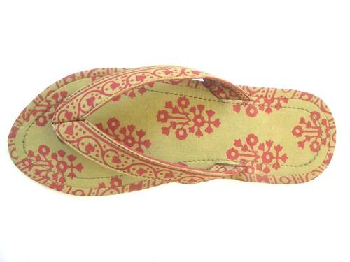 Handmade Ladies Textile Sandals