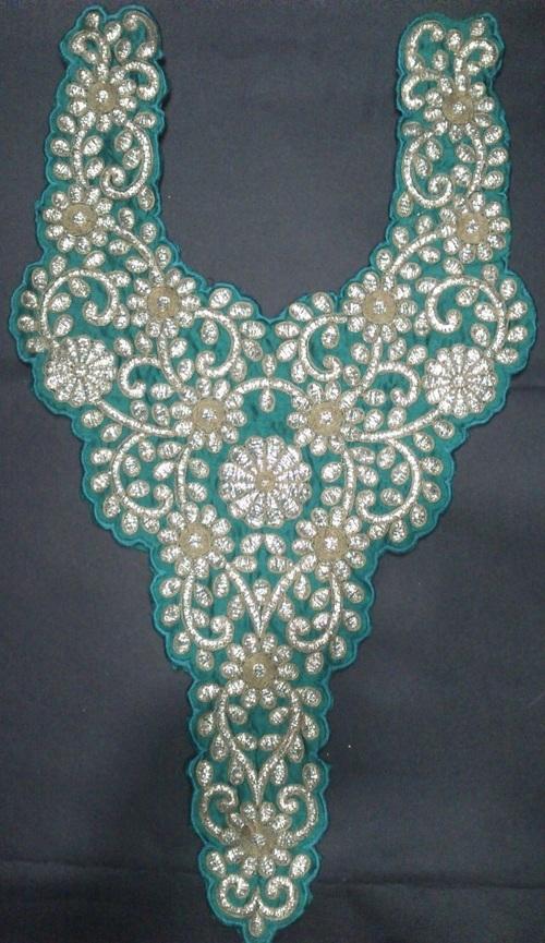 Embroidery khatli work neck in katargam surat manufacturer