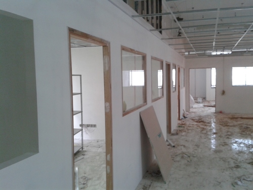 Gypsum Partition Of Stair : Gypsum board partitions in sector noida aps planet