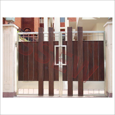 Wooden main gates in miller ganj gill road ludhiana for Wooden main gate design