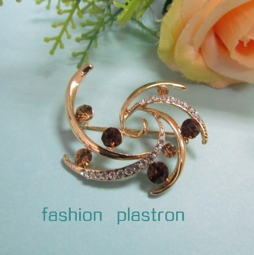 Fashion Gold Crystal Jewelry Brooch
