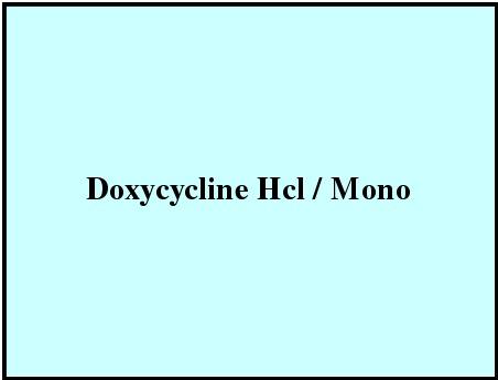 Doxycycline Hcl / Mono