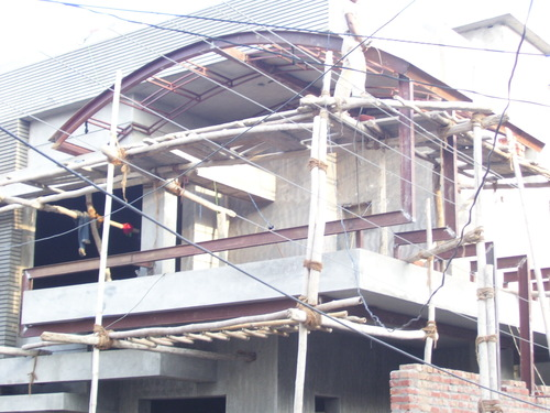 Front Elevation In Ludhiana : Front elevation structure works in bhai himmat singh nagar
