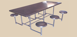 Stainless Steel Six Seator Dinning Table