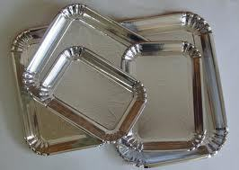 Silver Laminated Family Paper Plates