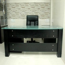 glass top office table. office glass top table in kilpauk i