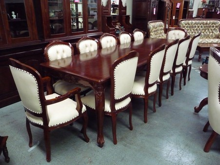 12 Seater French Provincial Louis Dining Set in Mooroolbark