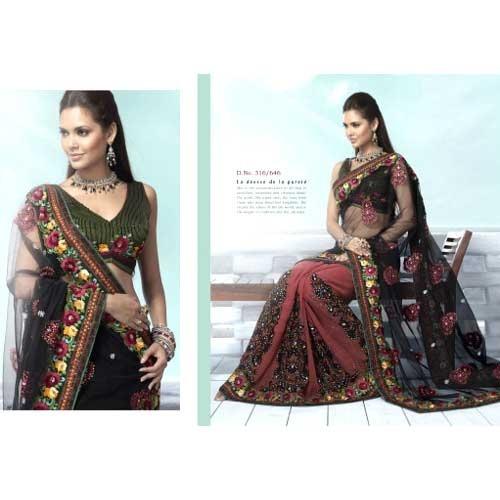 Double Shade Fancy Saree