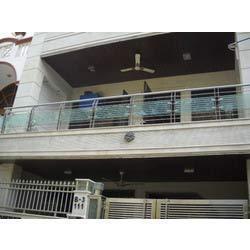 Ss glass balcony railing in ashok vihar i ii iii for Terrace railings design philippines
