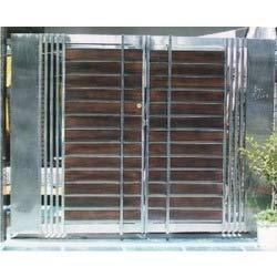 Stainless steel modular main gate in ashok vihar i ii for International decor main gates