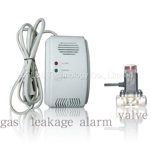 Wired Gas Alarm with Valve (L&L-559AV)
