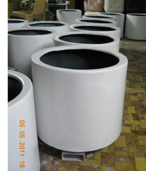 Fiberglass Round Planters