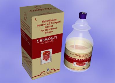 Metronidazole 0.5Gm./100 ml. Infusion B.P. Chemogyl