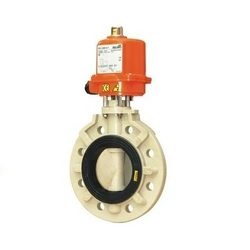 Plastic Butterfly Valves Actuated