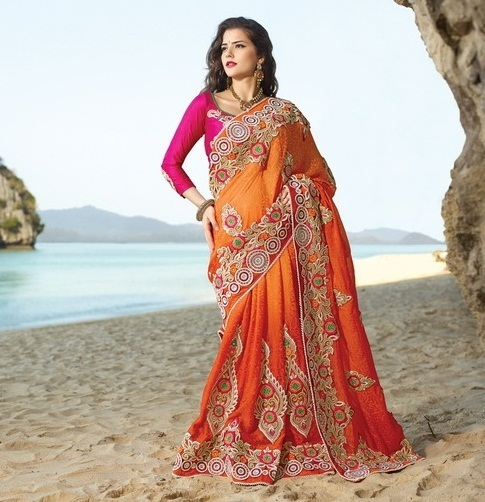 Bridal Heavy Embroidered Sarees In Ghatkopar E