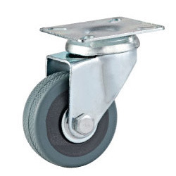 Grey Rubber Caster
