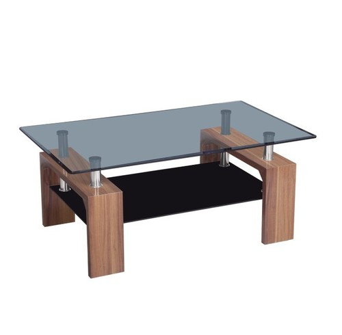 Glass center table ct270 2 in shengfang town langfang for Html table center