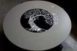 Round Inlay Table Top In Ghitorni