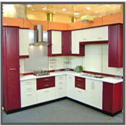 L shaped attractive modular kitchen in nit faridabad for Kitchen trolley designs catalogue