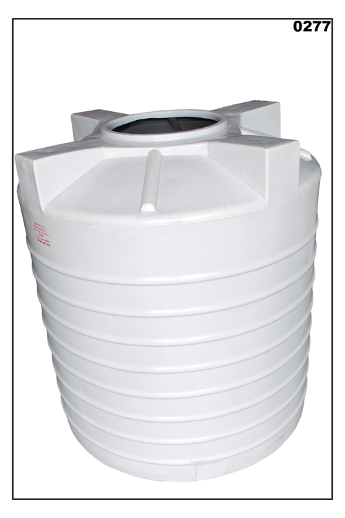 White Triple Layer Round Water Storage Tank