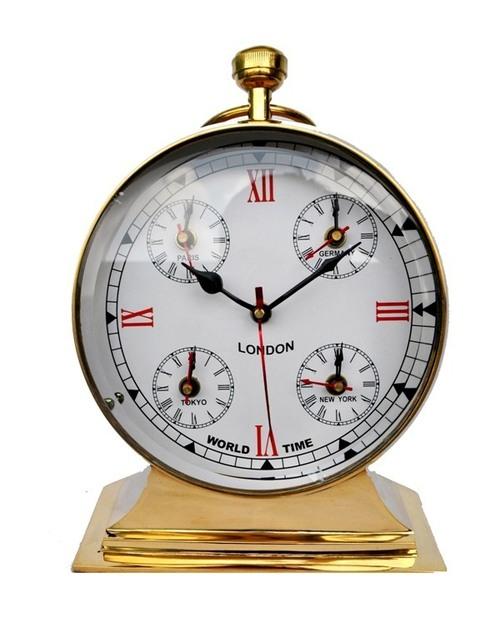 Table Clock Brass Metal